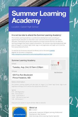 Summer Learning Academy