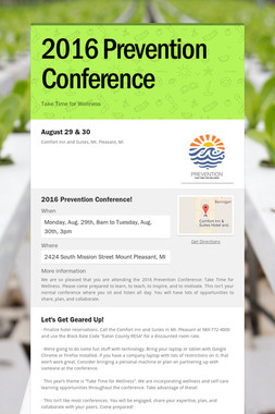 2016 Prevention Conference