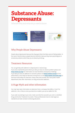 Substance Abuse: Depressants