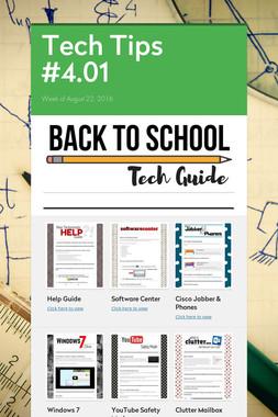 Tech Tips #4.01