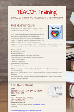 TEACCH Training