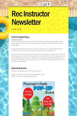 Rec Instructor Newsletter