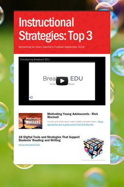 Instructional Strategies: Top 3