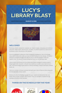 Lucy's Library Blast