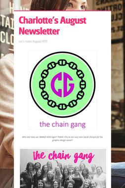 Charlotte's August Newsletter