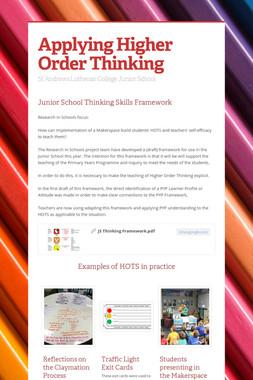 Applying Higher Order Thinking