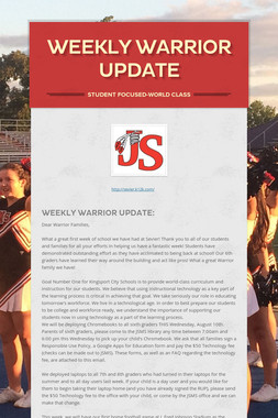 Weekly Warrior Update