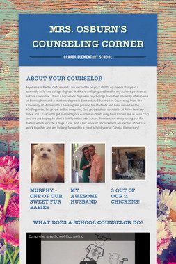 Mrs. Osburn's Counseling Corner