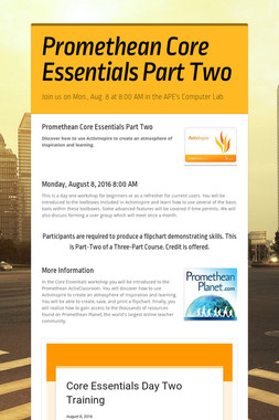 Promethean Core Essentials Part Two
