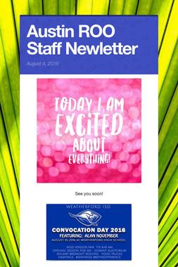Austin ROO Staff Newletter