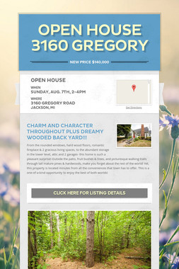 OPEN HOUSE 3160 Gregory