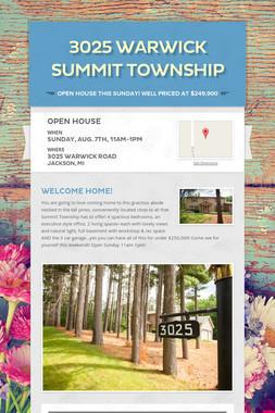 3025 Warwick Summit Township