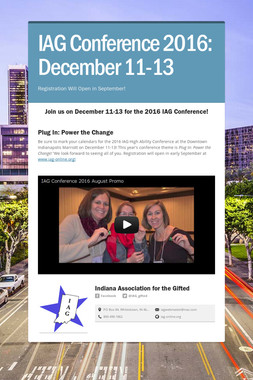 IAG Conference 2016: December 11-13