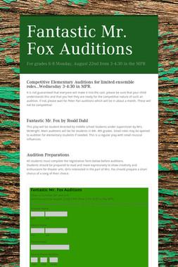 Fantastic Mr. Fox Auditions