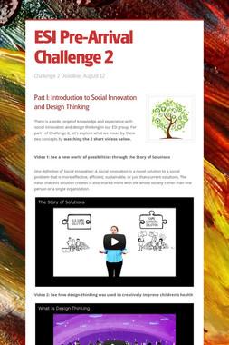 ESI Pre-Arrival Challenge 2