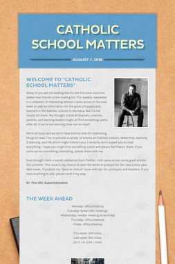Catholic School Matters