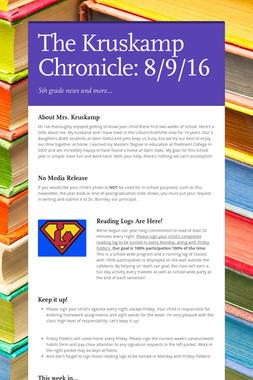 The Kruskamp Chronicle: 8/9/16
