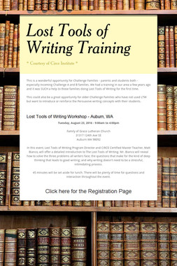 Lost Tools of Writing Training