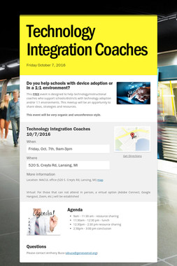 Technology Integration Coaches