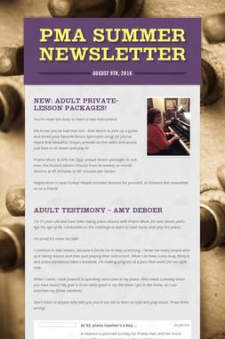 PMA Summer Newsletter