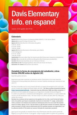 Davis Elementary Info. en espanol