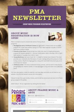 PMA Newsletter