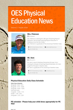OES Physical Education News