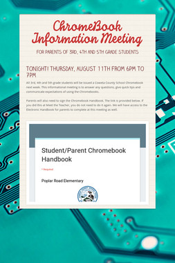 ChromeBook Information Meeting