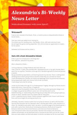 Alexandria's Bi-Weekly News Letter