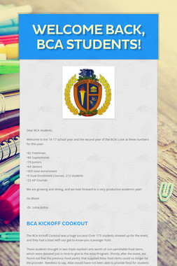 Welcome back, BCA students!