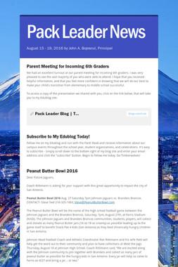 Pack Leader News