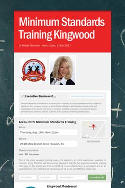 Minimum Standards Training Kingwood