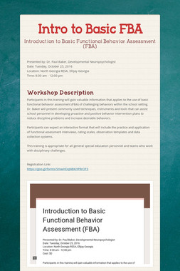 Intro to Basic FBA