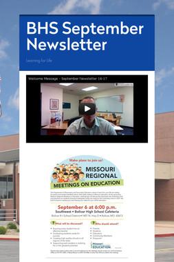 BHS September Newsletter