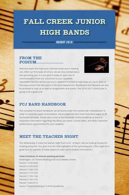 Fall Creek Junior High Bands