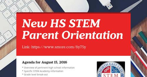 New Hs Stem Parent Orientation