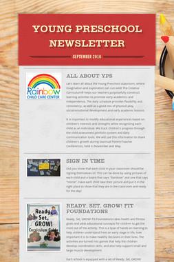 Young Preschool Newsletter