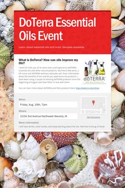 DoTerra Essential Oils Event