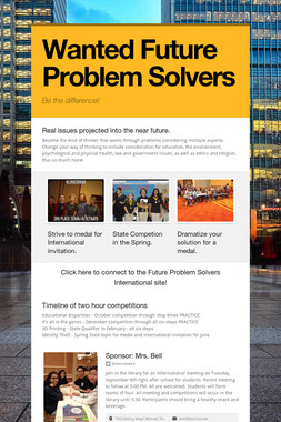 Wanted Future Problem Solvers