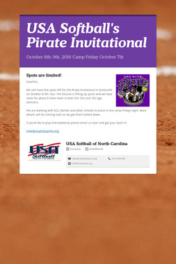 USA Softball's Pirate Invitational