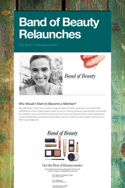 Band of Beauty Relaunches