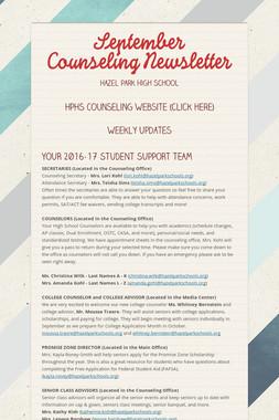 September Counseling Newsletter