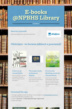 E-books @NPBHS Library