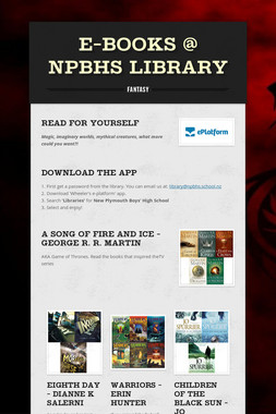 E-books @ NPBHS Library