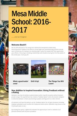Mesa Middle School: 2016-2017