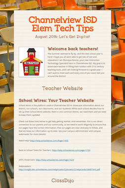 Channelview ISD Elem Tech Tips