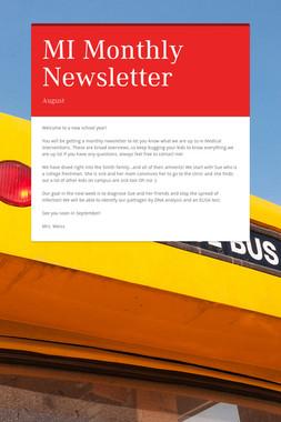 MI Monthly Newsletter