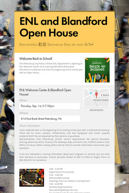 ENL and Blandford Open House