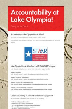 Accountability at Lake Olympia!