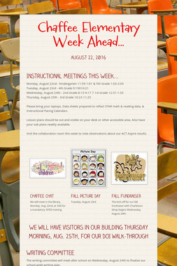 Chaffee Elementary Week Ahead...